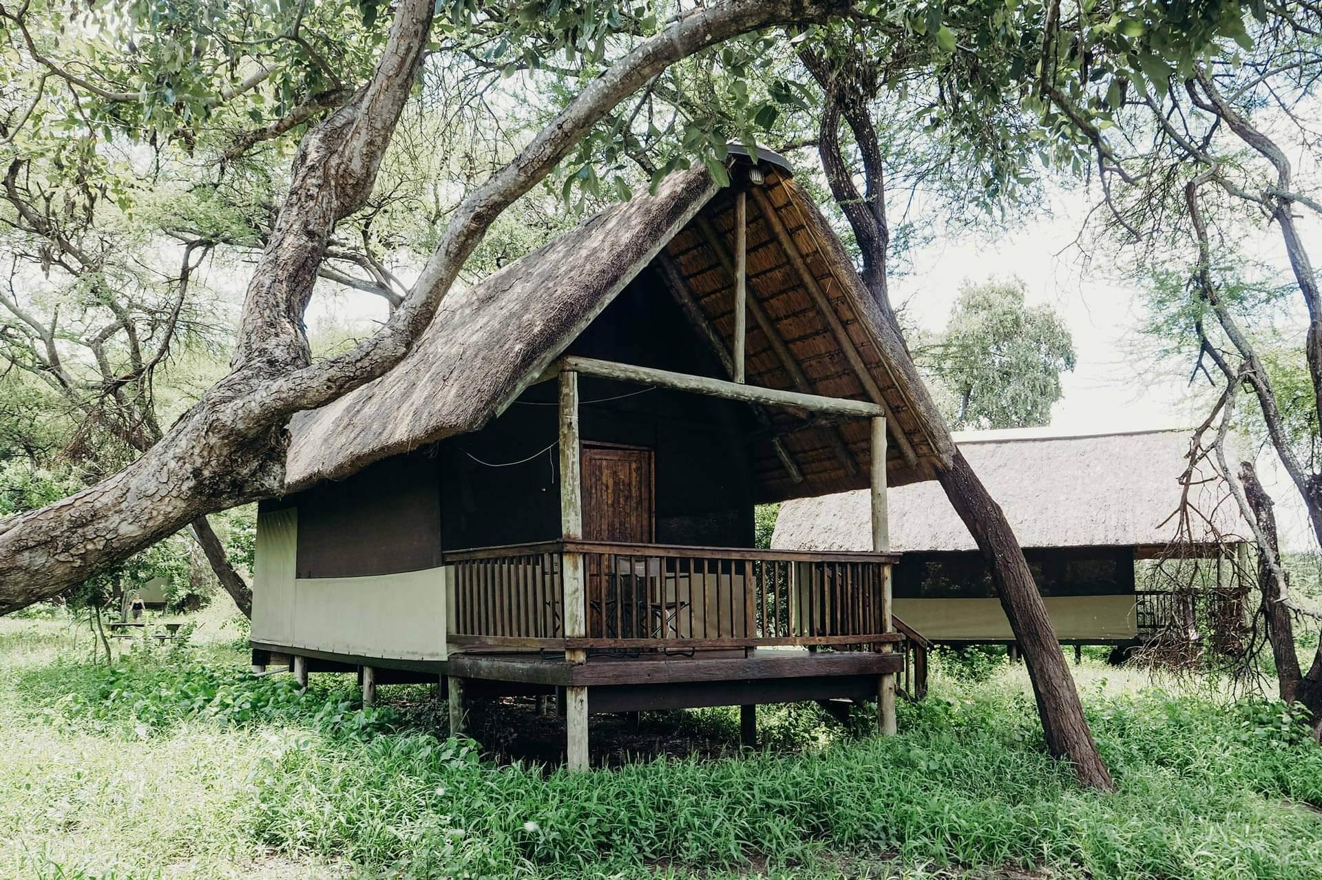 Hut in camp